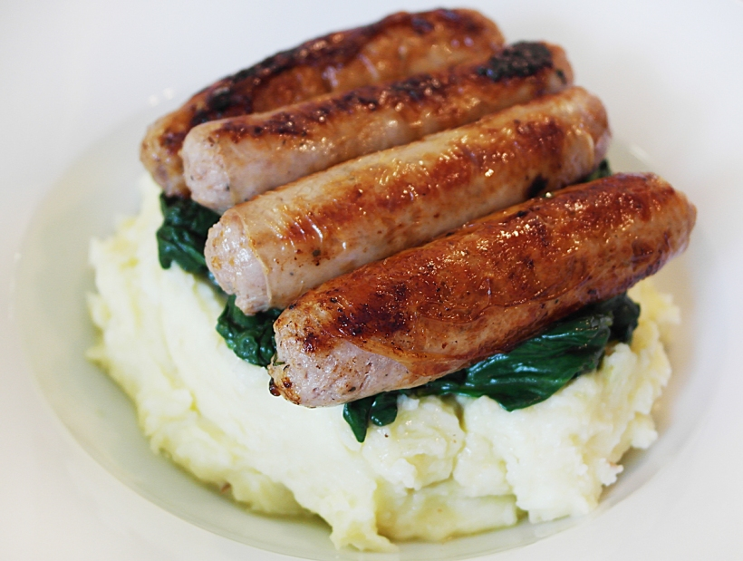 The best sausages and mash