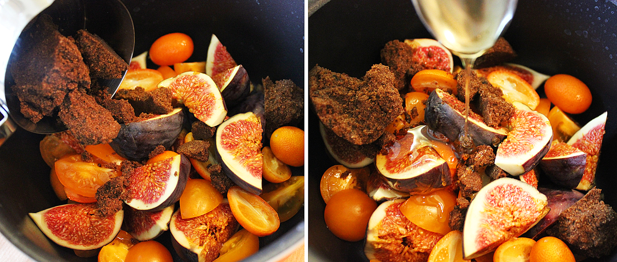 Fig, tomato and kumquat jam